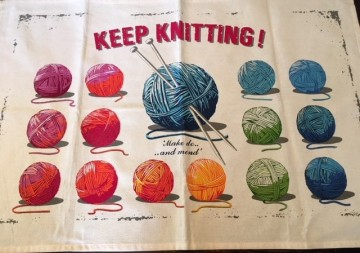 Håndkle Keep knitting